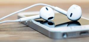Iphone and headphones